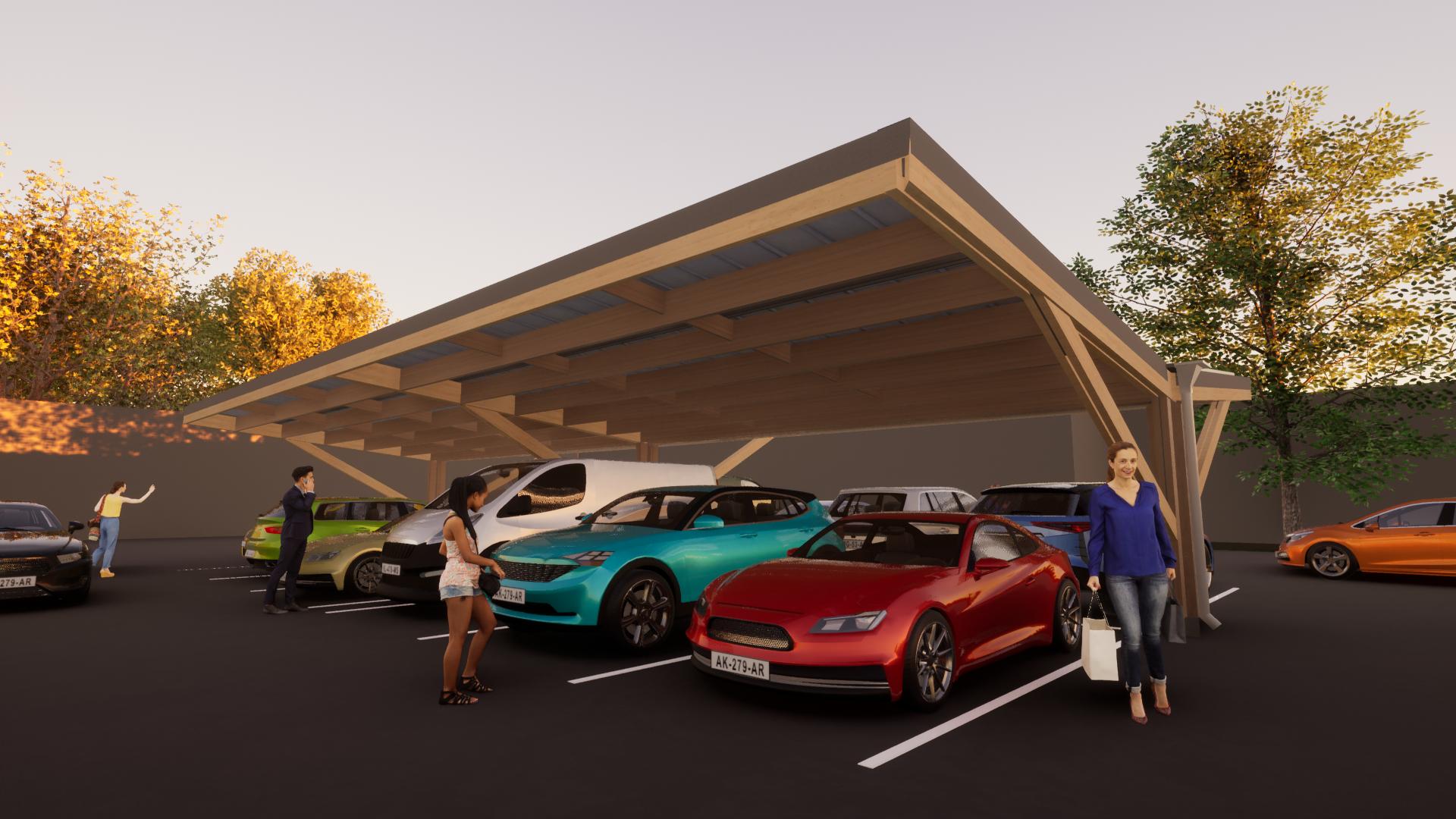 Timber carpark 9