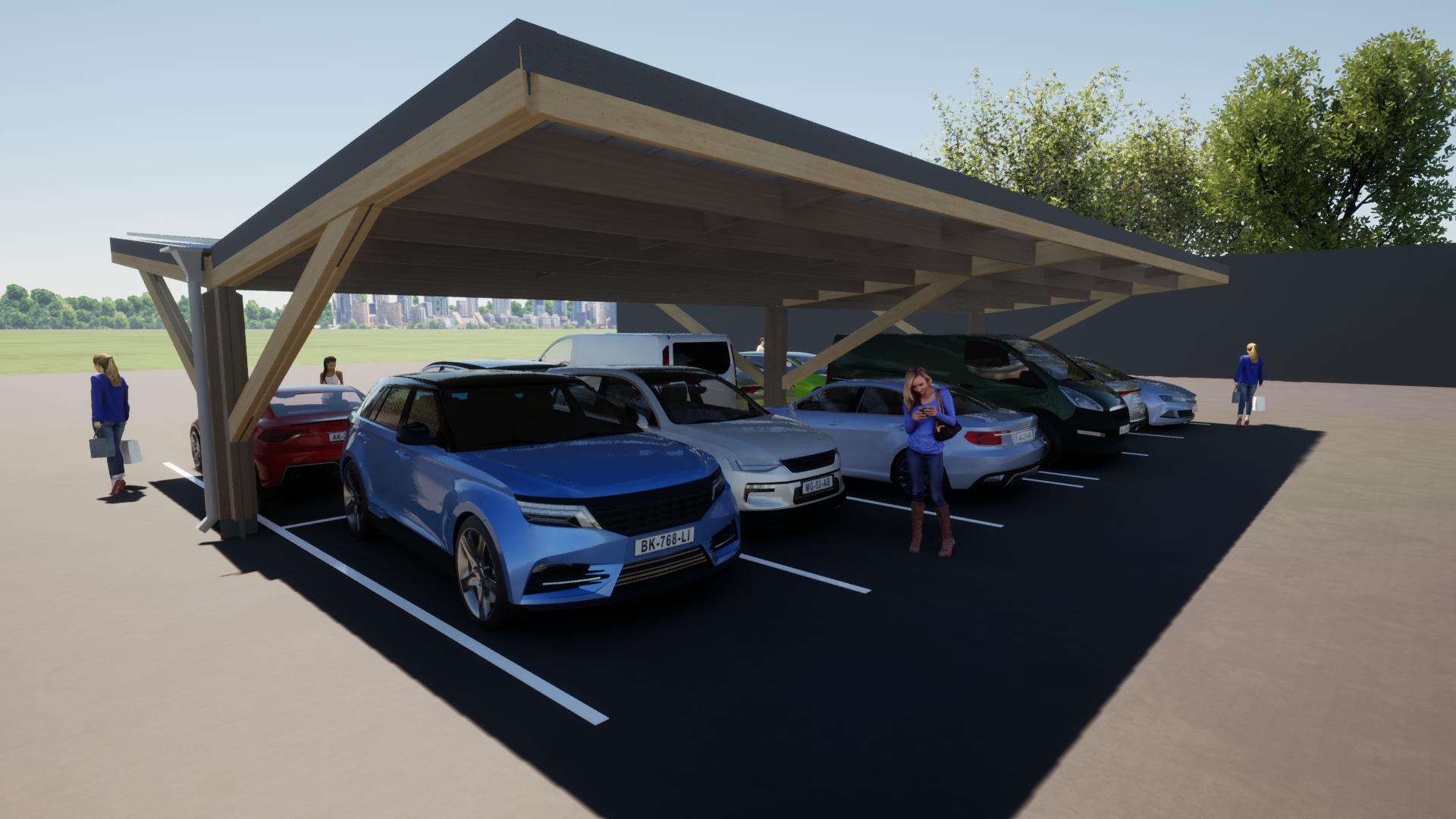 Timber carpark 5