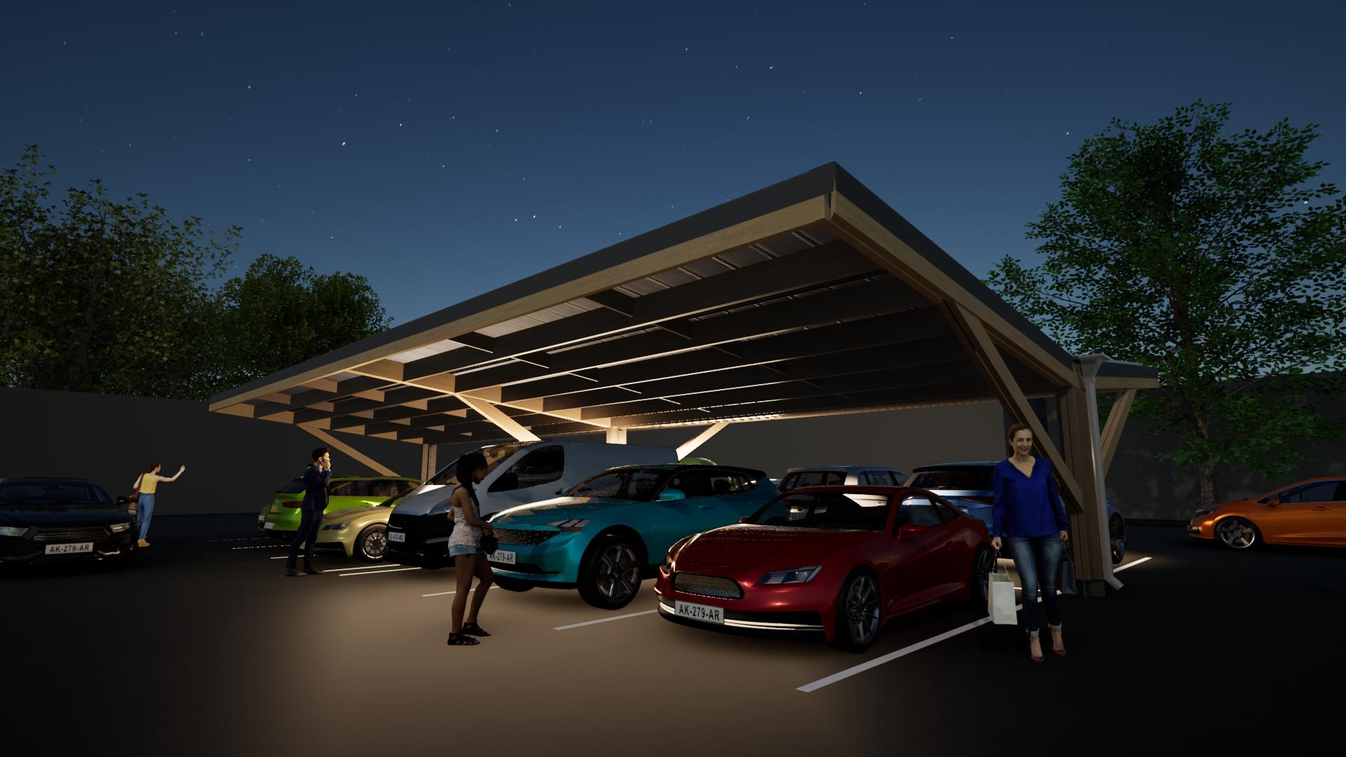 Timber carpark 7